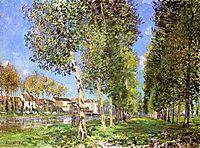 The Lane of Poplars at Moret Sur Loing, 1888, sisley