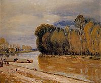 The Loing Canal, 1897, sisley