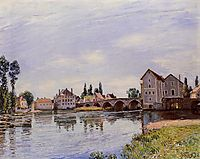 The Loing Flowing under the Moret Bridge, 1892, sisley