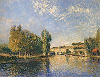 The Loing at Moret, 1883, sisley