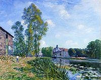 The Loing at Moret in Summer, 1891, sisley