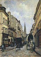 Main Street in Argenteuil, 1872, sisley