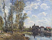 May Afternoon on the Loing, 1888, sisley