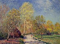 A May Morning in Moret, 1886, sisley
