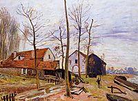 The Mills of Moret, Sunrise, 1889, sisley