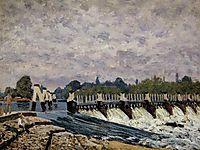 Molesey Weir - Morning, 1874, sisley