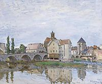 Moret on Long Time Gray, c.1892, sisley