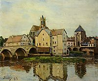 Moret sur Loing, Morning, 1892, sisley
