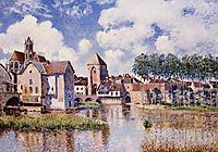 Moret sur Loing the Porte de Bourgogne, 1891, sisley
