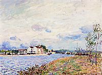 The Mouth of the Loing at Saint Mammes, 1885, sisley