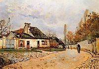 Neighborhood Street in Louveciennes (Rue de Village (Voisins to Louveciennes)), 1872, sisley