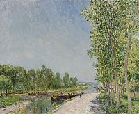 On the Banks of the Loing Canal, 1883, sisley