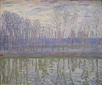 On the Banks of the River Loing, sisley