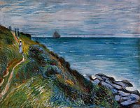 On the Cliffs, Langland Bay, Wales, 1897, sisley