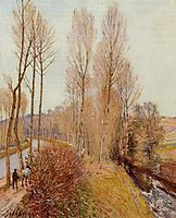Path along the Loing Canal, 1891, sisley