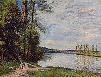 The Path from Veneux to Thomery along the Water, Evening, 1880, sisley