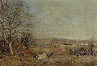 The Plain of Veneux, View of Sablons, 1884, sisley