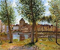 Poplars a Moret sur Loing, an August Afternoon, 1888, sisley
