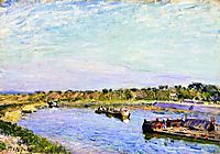 The Port of Saint Mammes, Morning, 1885, sisley