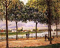 Promenade of Chestnut Trees, 1878, sisley