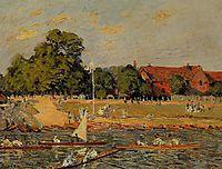 Regata at Hampton Court, 1874, sisley