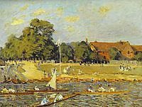 Regatta at Hampton Court, 1874, sisley