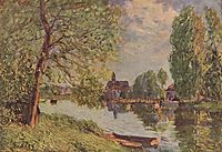 River Landscape by Moret sur Loing, c.1890, sisley
