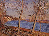 Riverbank at Veneux, 1881, sisley