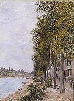 Road Along the Seine at Saint Mammes, c.1880, sisley