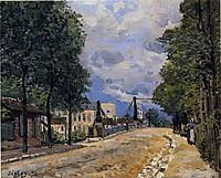 The Road from Gennevilliers, 1872, sisley