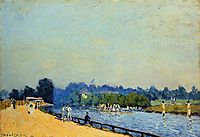Road from Hampton Court, 1874, sisley
