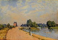 The Road from Hampton Court, 1874, sisley