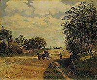 The Road from Mantes to Choisy le Roi, 1874, sisley