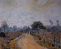 The Road from Prunay to Bougival, 1874, sisley