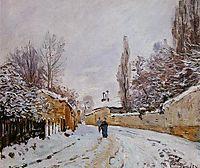 Road under Snow, Louveciennes, c.1876, sisley