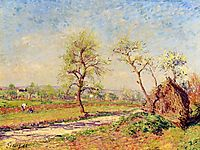 Road at Veneux, 1886, sisley