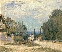 Route from Louveciennes, c.1873, sisley