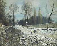 Route to Marly Le Roi in Snow, sisley
