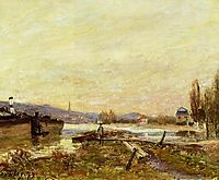 Saint Cloud, Banks of the Seine, 1879, sisley
