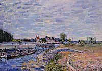 Saint Mammes Dam, 1885, sisley