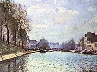 The Saint-Martin Canal in Paris, 1870, sisley
