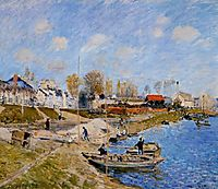 Sand on the Quayside, Port Marly, 1875, sisley