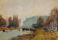 The Seine at Bougival, 1873, sisley