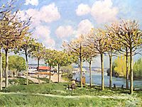 The SeineatBougival, 1876, sisley