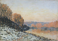 The Seine at Bougival in Winter, 1872, sisley