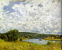 The Seine at Suresnes, 1877, sisley