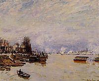 The Seine, View from the Quay de Pont du Jour, 1878, sisley