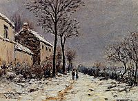Snow Effect at Veneux, sisley