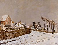 Snow at Louveciennes, 1873, sisley