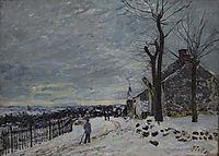 Snowy Weather at Veneux Nadon, 1880, sisley